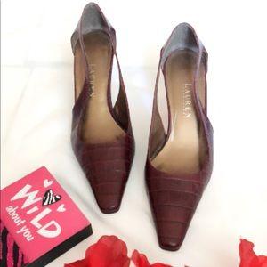 Ralph Lauren Brown Leather Heels